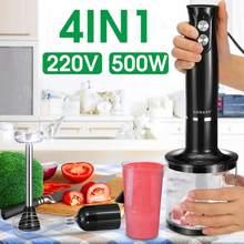 500W elektrikli el mikseri Smoothies için çorbalar soslar çırpma kıyma makinesi yumurta Smoothie yapıştır Blender yumurta çırpıcı mutfak aletleri
