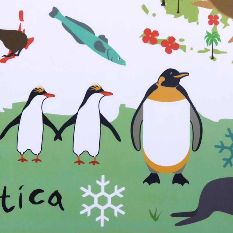 Animals of the World Vinyl Wall Map Sticker