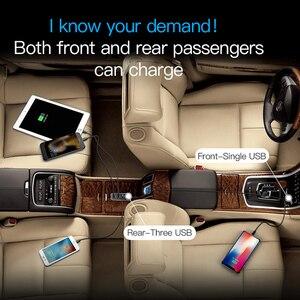 Baseus Multi 4 Ports USB Auto Ladegerät Mehrere 5,5 EINE Turbo Schnelle Auto Lade USB Ladegerät Für iPhone X Samsung xiaomi Handy