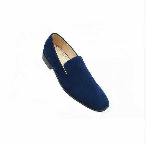 รองเท้า Loafers Breathable คุณภาพสูงขับรถสีฟ้ารองเท้าใหม่สไตล์แฟชั่นฤดูใบไม้ผลิ/ฤดูใบไม้ร่วงรองเท้าผู้ชาย