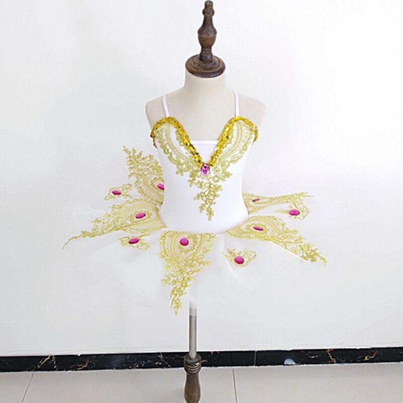 Детская танцевальная юбка балетное платье для девочек Новая юбка-американка с блестками, лебедь, одежда для выступлений для соревнований - Цвет: white