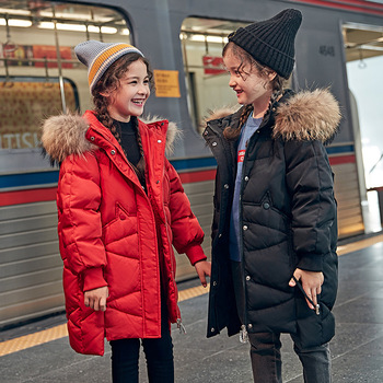 Children down jacket, 2019 new han edition thickening girls cuhk TongBai duck down coat a undertakes to boom