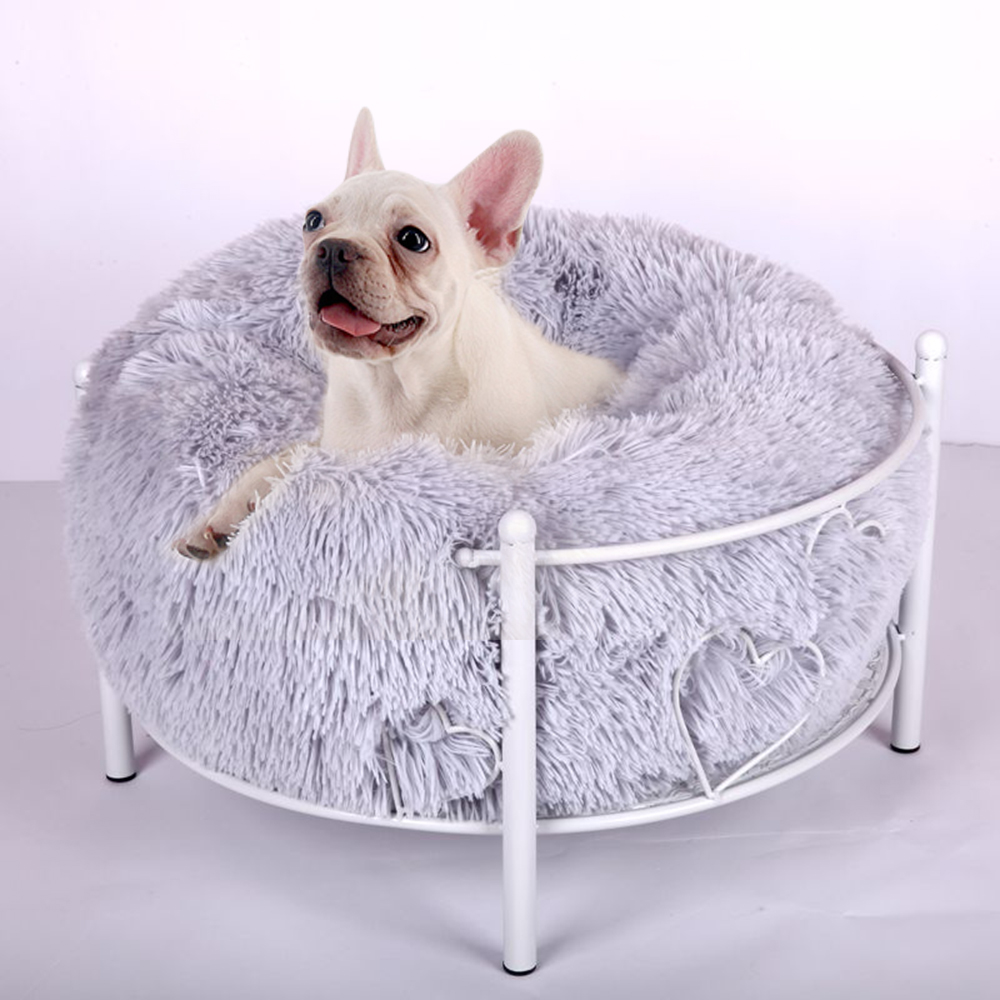 Round Pet Bed Washable Toiletry Kits Long Plush Dogs Cats Super Soft Cotton Winter Warm Sleeping Mats Sofa For Cats Nest