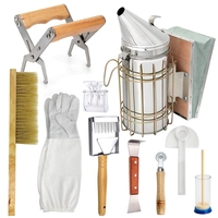 Apicultura mel kit de ferramentas apicultura starter kit conjunto de 10 apicultura equipamentos suprimentos