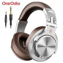 Oneodio A71 bilgisayar için kablolu kulaklıklar Mic ile telefon katlanabilir aşırı kulak Stereo kulaklık stüdyo kulaklık kayıt monitörü