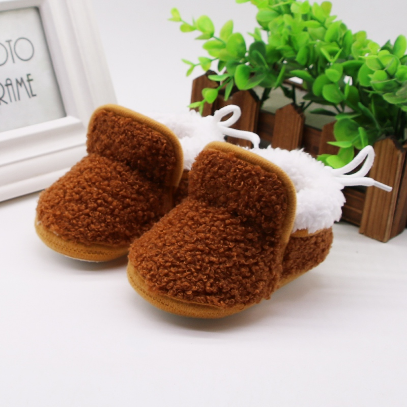 2019 New Autumn Winter Baby Infant Boots 0-18M Boys Girls Casual Shoes Soft Warm Cartoon Baby First Walkers