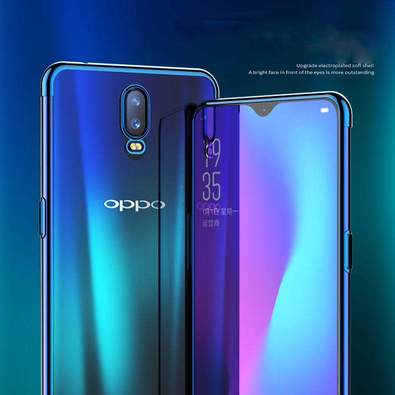 for <font><b>OPPO</b></font> Find X2 Pro <font><b>Reno</b></font> 2Z 2F 2 10X ZOOM R17 R17 Pro Case Elec-<font><b>plating</b></font> Airbag Case Anti-shock Transparent Cover Funda image