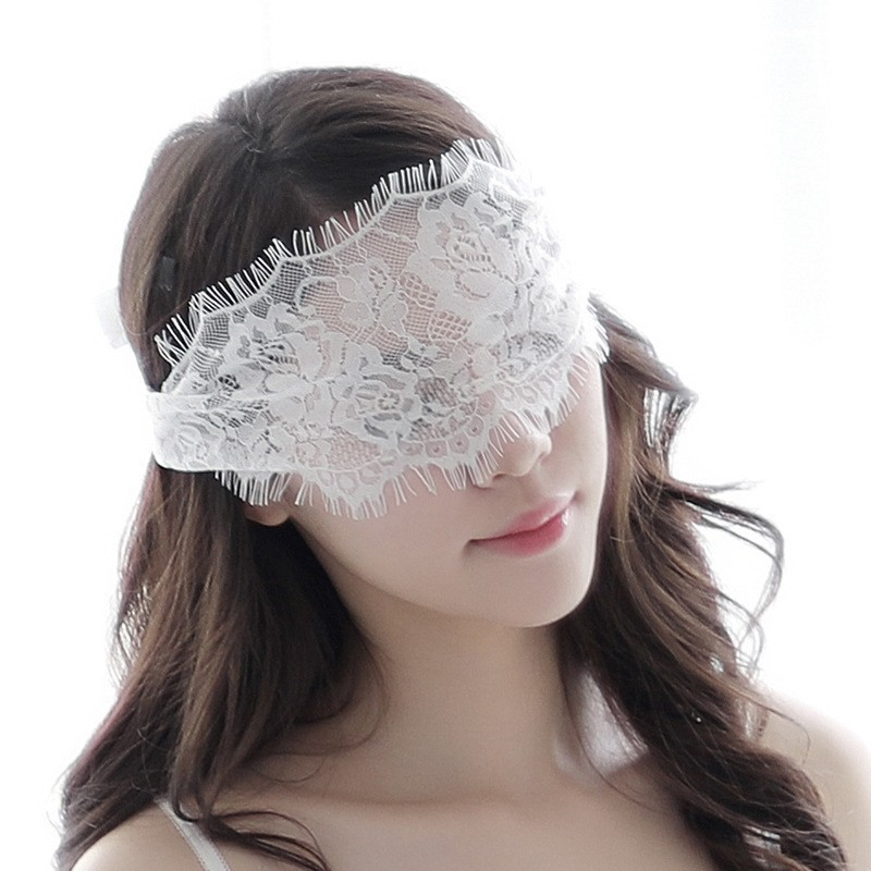 Pop Sexy Lingerie Lace Hollow Blindfold Tethered Black And White Taste Accessories Game Clothes Mask