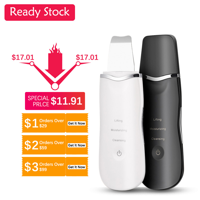 Ultrasonic Deep Face Clean Machine Skin Scrubber Remove Dirt Blackhead Reduce Wrinkles Spots Facial Lifting Cleaning Cleansing