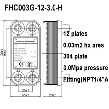 Brazed-Plate-Heat-Exchanger Heat-Transfer 12-Plates Mini Areas