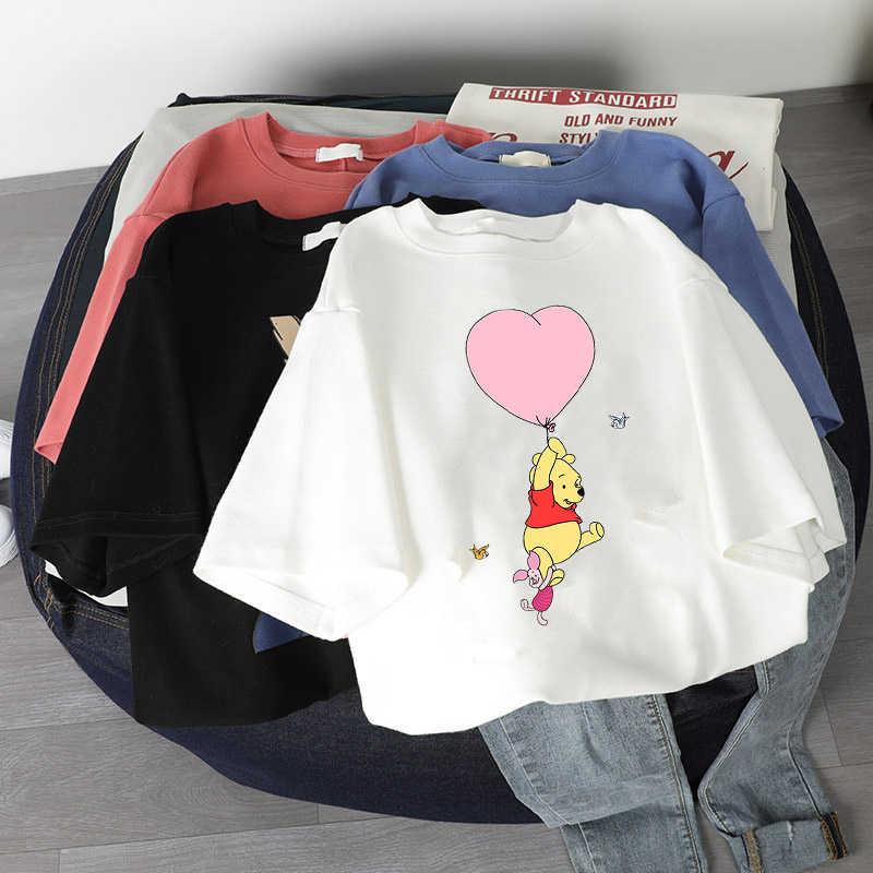 ฤดูร้อน Harajuku หญิง TShirt Kawaii การ์ตูนพิมพ์เสื้อแขนสั้น Tops & Tees แฟชั่น Casual T Shirt เสื้อผ้าผู้หญิงเสื้อยืด