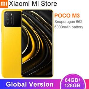В наличии глобальная версия Xiaomi POCO M3 смартфон 4 Гб 64 Гб/128 ГБ Snapdragon 662 Octa Core 6000 мАч батарея 48MP камера Cellphon