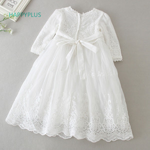 Image 2 - HAPPYPLUS Baby Dress Long Sleeve/Sleeveless Kids Second First Birthday Girl Party Gown for Christening Infant Baptism Dresses