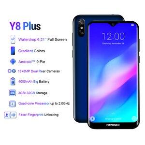 Image 2 - DOOGEE Y8 Plus MTK6761 3GB RAM 32GB ROM 4000mAh Android 9.0 FDD LTE 6.21 pouces 19:9 Waterdrop écran Smartphone double SIM 13.0MP