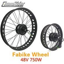 """48 فولت 750 واط الدهون دراجة e الدراجة عدة دراجة كهربائية تحويل عدة موتور 20 """"26"""" عجلة MXUS العلامة التجارية ل 175 مللي متر 190 ملليمتر شوكة"""