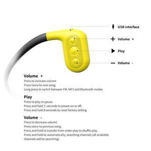 Image 2 - Tayogo W02 Schwimmen Knochen leitung Kopfhörer Bluetooth Headset Handfree Handphone mit FM Pedo Meter IPX8 Wasserdichte MP3 Player