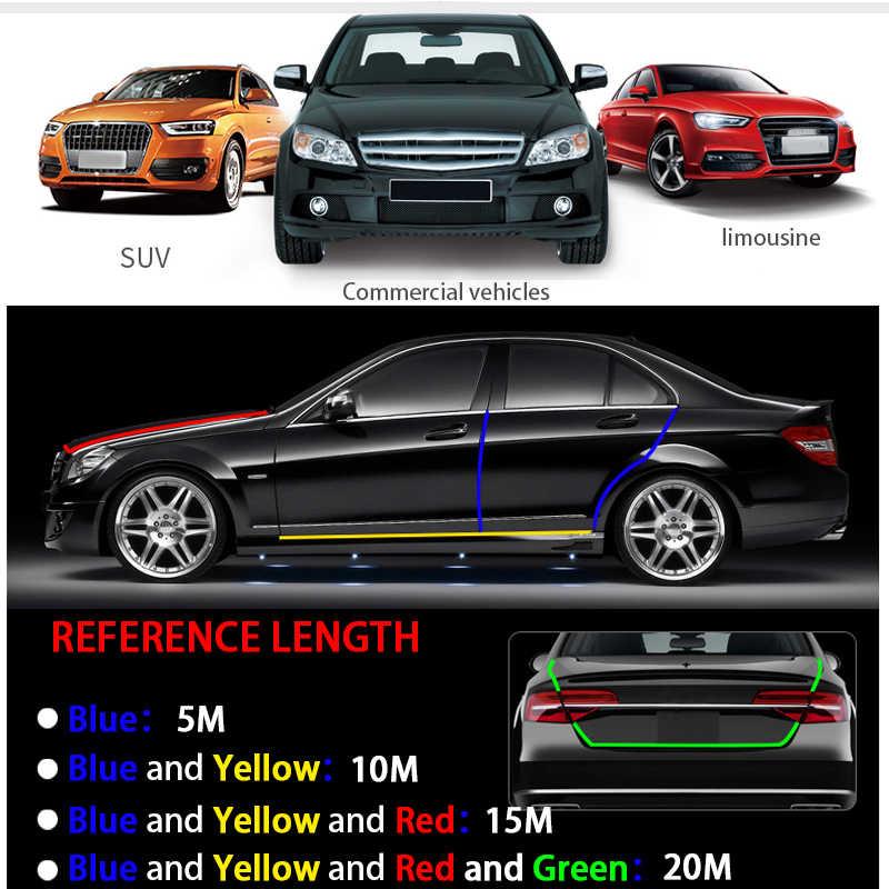 Black Auto-Anti-Kratz-Streifen-Auto-T/ür-Schutz-Schutz-Streifen Gummi Anti-Kollision Auto Trim Aufkleber Schutz