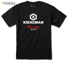 PRIMITIVE SKATE x KIKKOMAN SAUCE T-SHIRT MENS SKATEBOARD TEE BLACK COLLAB TOP New Fashion T shirt Brand Hip Hop Print Men Tee Sh