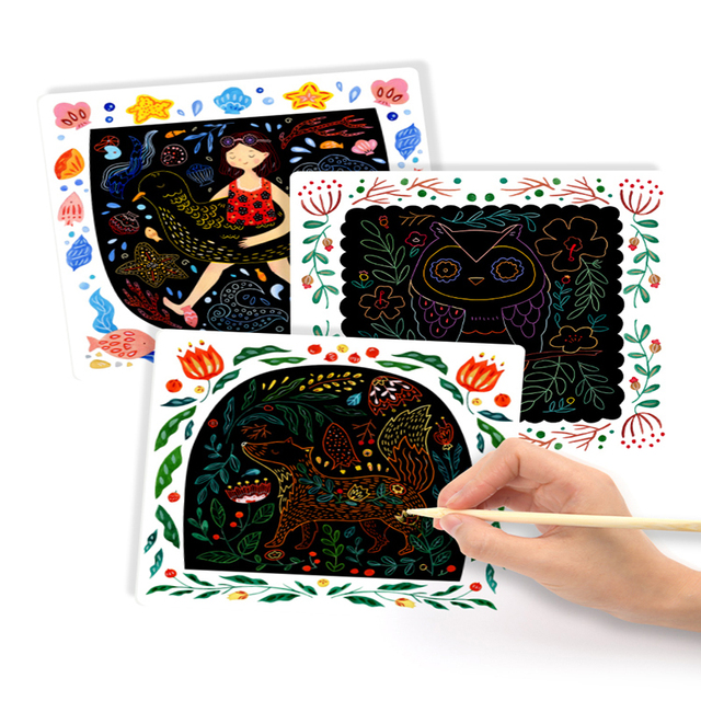 MiDeer-Kids-Scraping-Painting-Paper-Handmade-DIY-Drawing-Card-Baby-Safe-Non-toxic-Black-Card-Paper
