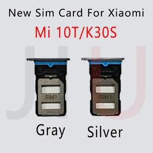 Image 2 - جديد ل شاومي Mi 10T / 10T برو 5 جرام سيم بطاقة صينية فتحة حامل محول المقبس إصلاح أجزاء