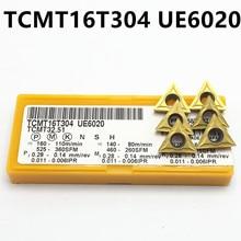 10 шт. TCMT16T304 UE6020 карбидная вставка высокого качества внутренняя Поворотная вставка TCMT 16T304 TCMT110204 станок с ЧПУ Режущий инструмент