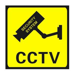 Camera Sign Warning-Stickers Waterproof CCTV 24-Hour Monitor Lables Alert Square Surveillance-Security