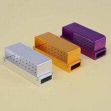 Holder Autoclave Dental-Bur Disinfection-Box 30-Holes Burs Box-Block Dentist Aluminium