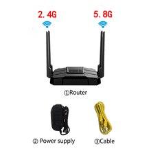 Беспроводной Wi Fi роутер ZBT AC1200Mbps, двухдиапазонный 1 WAN + 4 LAN гигабитный USB портов с английской прошивкой, более широкое покрытие, ptp L2TP