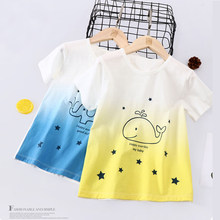 3-12 Years Children Tshirt Girls Boys Cotton Short Sleeve Shirt Kids Summer Clothing