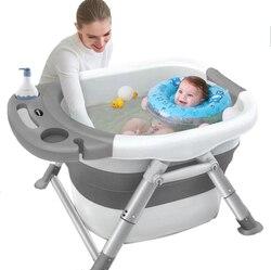Bambino Pieghevole Vasca da bagno di Nuotata Del Bambino Vasche da bagno Del Corpo di Lavaggio Portatile Piegare in grado di Bambini Eco-Friendly Antiscivolo di Sicurezza Kid vasca da bagno