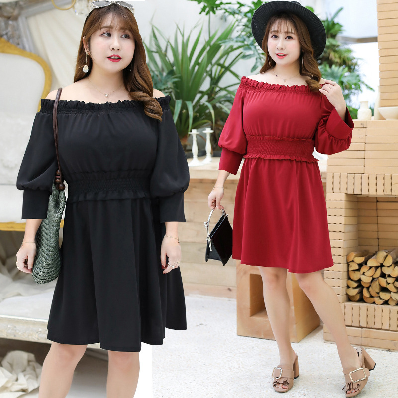 2019 Autumn Clothing New Style 300 Large GIRL'S Slimming Off-Shoulder Skirt French Non-mainstream Yamamoto Skirt A167