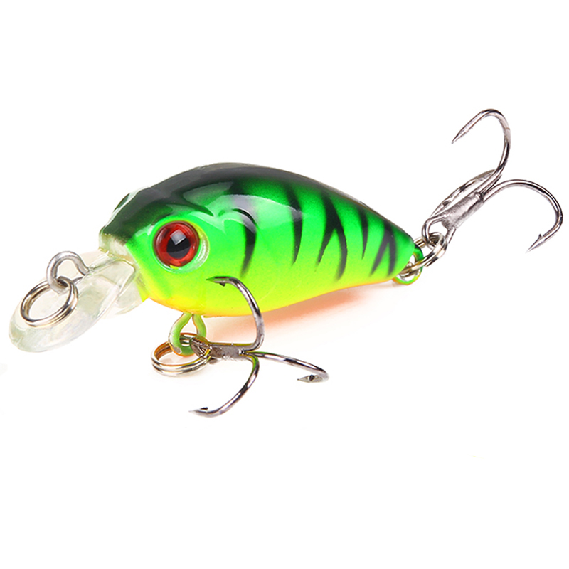 1PCS  Fish Fishing Lure 4.5cm 3.8g Artificial Hard Crank Bait Topwater Wobblers Japan Mini Fishing Crankbait Lure Pesca Tackle