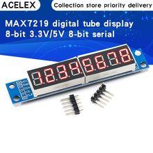 Módulo de Control de pantalla Digital MAX7219, matriz de puntos LED de 8 dígitos, 3,3 V, 5V, controlador de serie, 7 segmentos