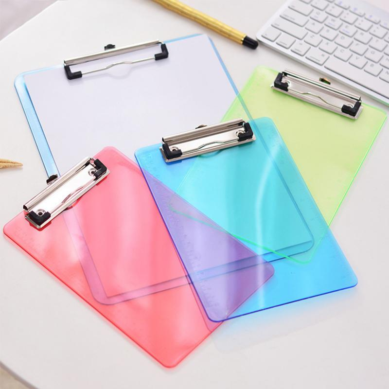 Office School Stationery A4 Writing Pad Clipboard With Tick Mark File Holder Folder Plastic Vertical Type Paperwork Transparent