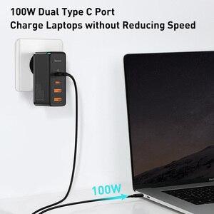 Image 2 - Baseus MacBook,ラップトップ,スマートフォン用の高速USB充電器,100W,4.0 USB電話充電器,急速充電3.0