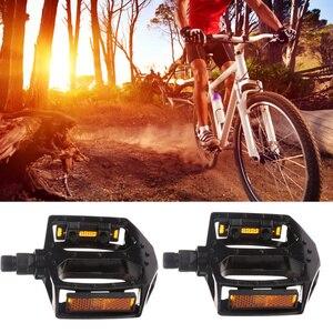 1 par de liga de alumínio pedal da bicicleta especial bicicleta rolando bola pedal multi-purpose pedais bicicleta pedal acessório (preto singl