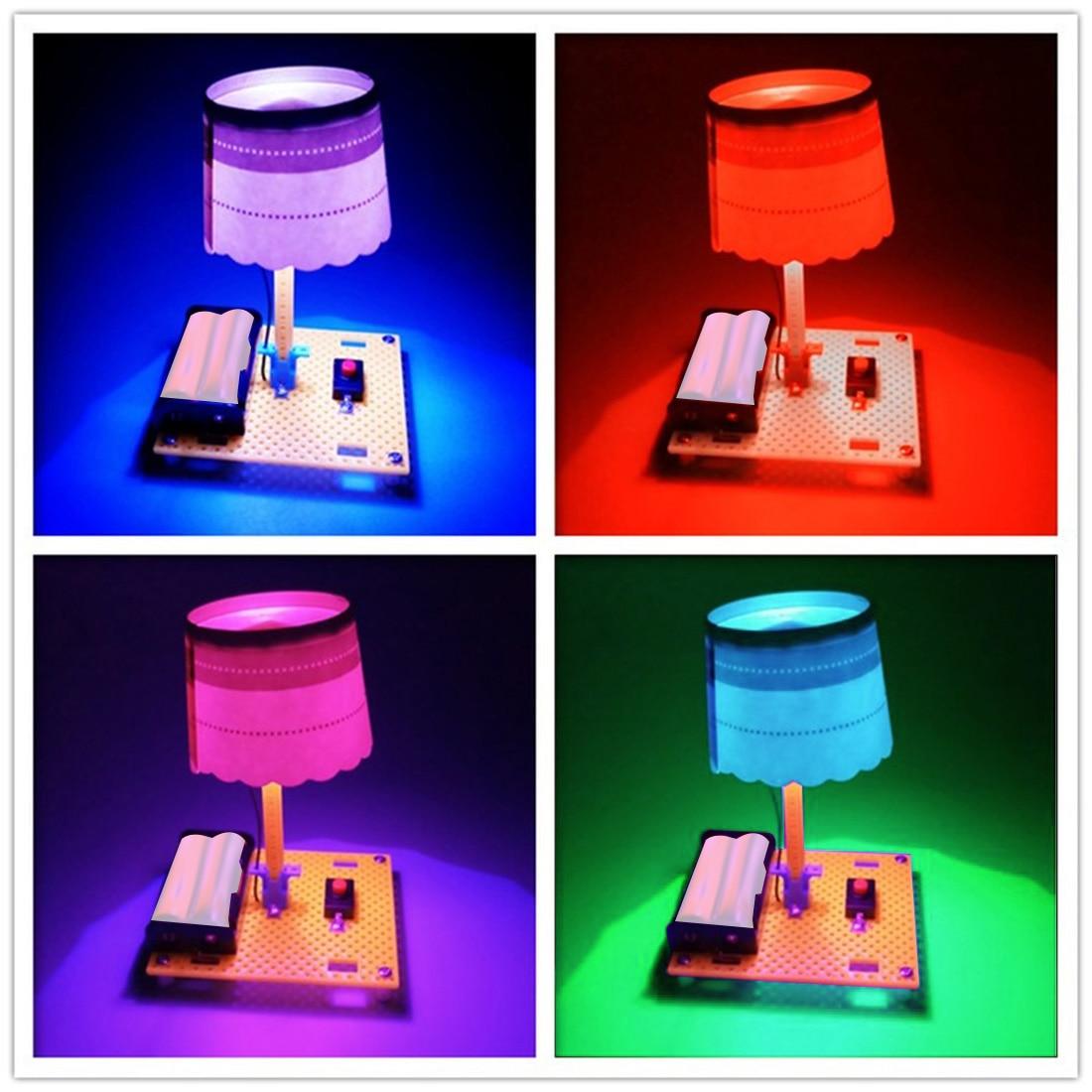 Feichao DIY Science Technology маленькая производственная мини настольная лампа ручной работы DIY настольные лампы сборка модель комплект обучающая ламп...