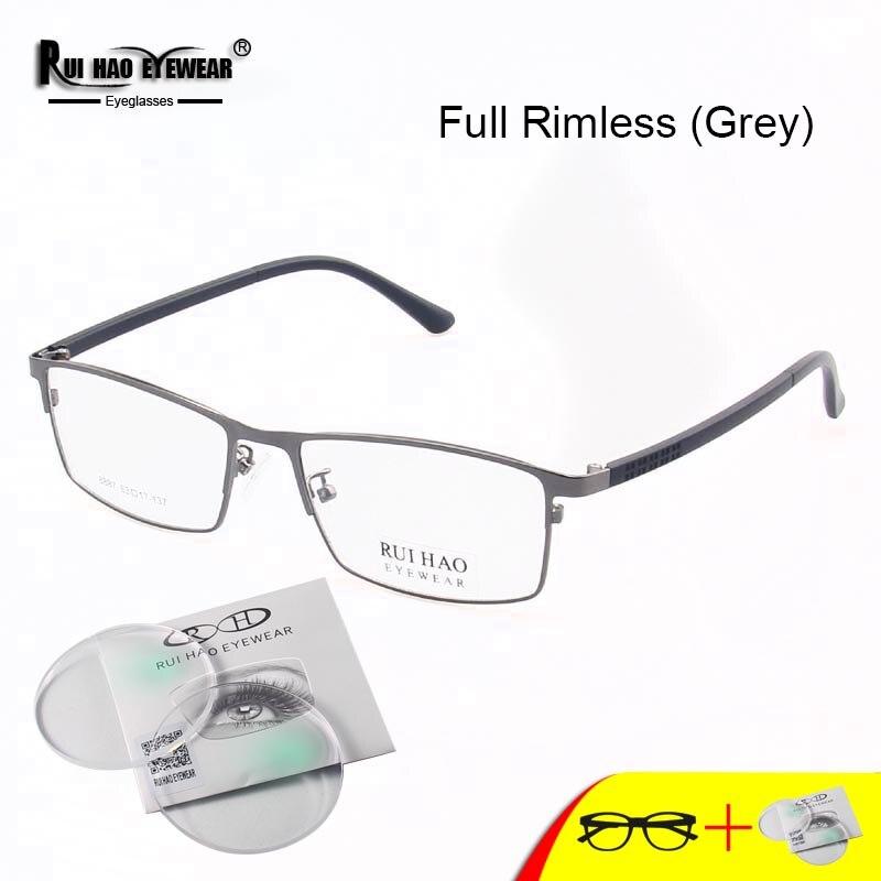 Индивидуальные очки по рецепту, прямоугольные очки, оправа для мужчин, заполняющие линзы из смолы, очки для чтения при близорукости, прогрес...