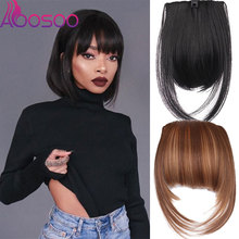 Hairpieces Short Synthetic-Bangs Heat-Resistant Extensions Fake Black Natural Women