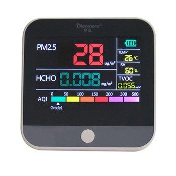 AQI Air Quality Analysis Tester PM2.5/HCHO/TVOC Temperature Humidity Monitor Gas Detector Analyzer Measuring Tool Smog Meter