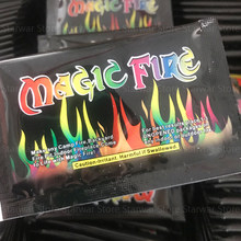 Mystical Fire Magic Tricks Bonfire Camp Fire Brightly Colored Flames Powder Sachet Pyrotechnics Fireplace Pit Patio Color Toy
