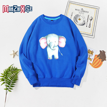 Limited Time Discount Girls Long Sleeve Sweatshirt Cartoon Elephant Printing Pullover Children Kids Clothes Girl Boys Clothing