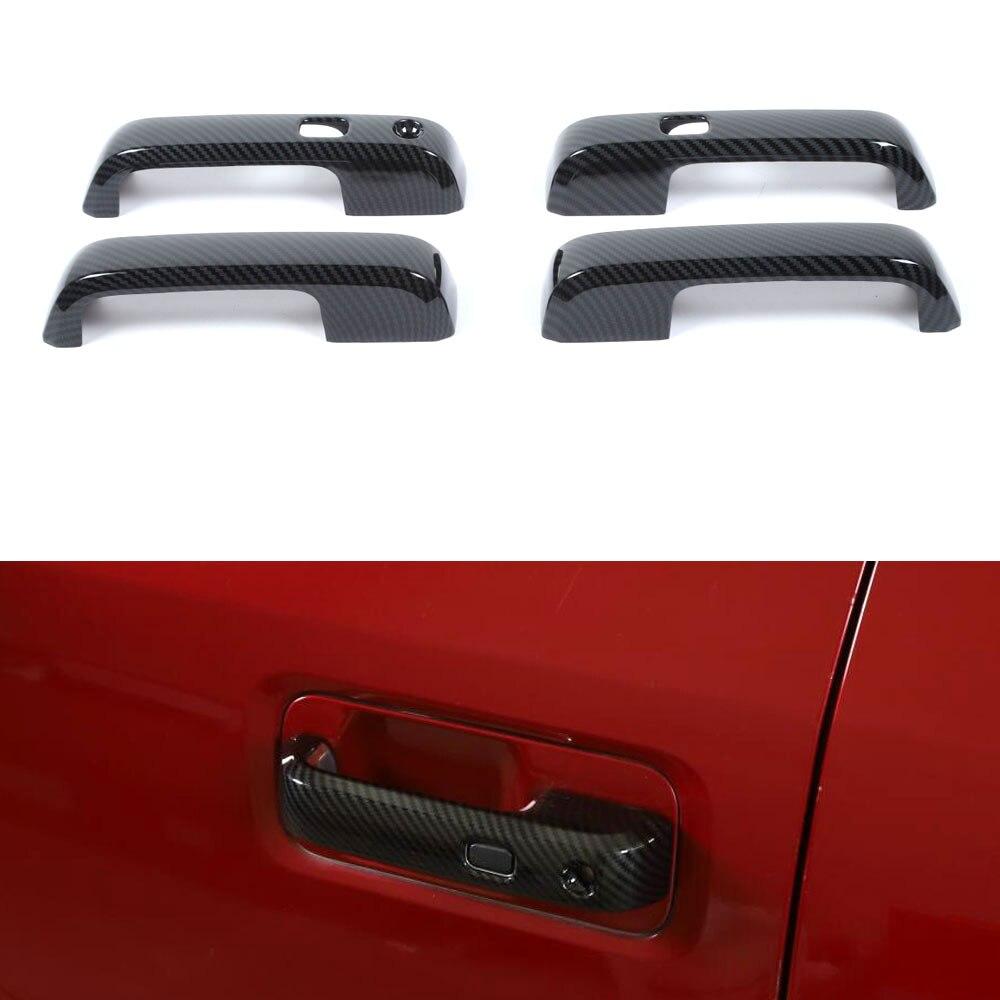 Pour Ford F150 2015 Up voiture poignée de porte extérieure saisir couverture garniture Style ABS Fiber de carbone Style Auto accessoires