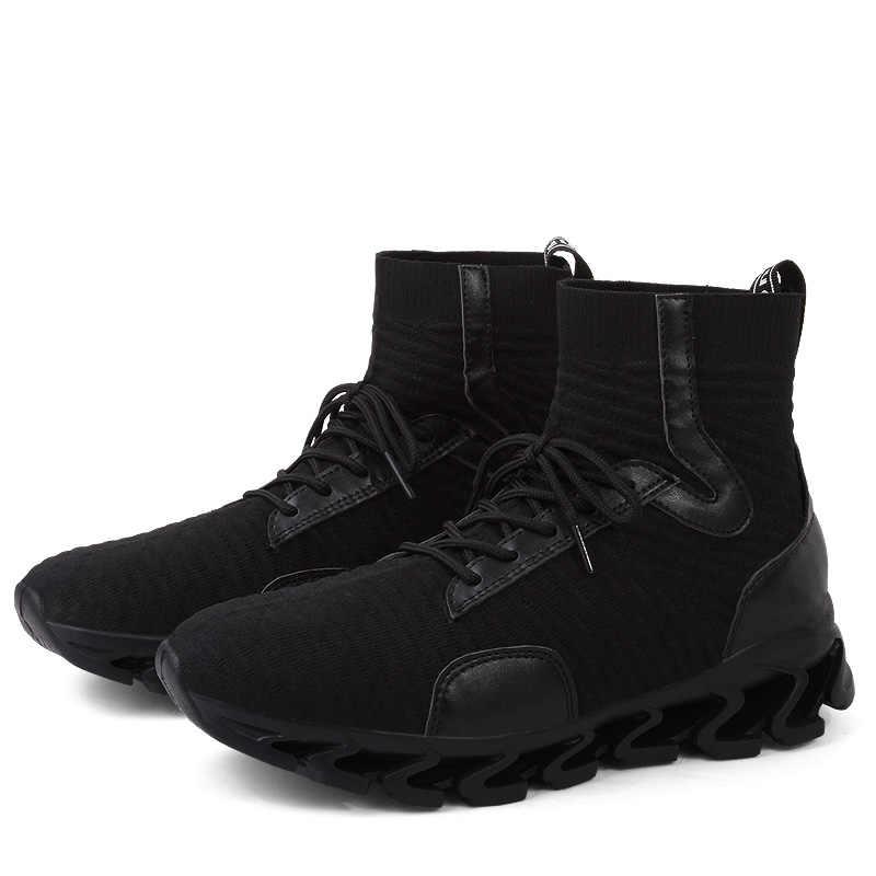 Man Sneaker Voor Mannen Merk Outdoor Hoge Top Schoenen Elasticiteit Warme Winter Lopen Casual Schoenen Mannelijke Schoenen Trend Zapatos Hombre