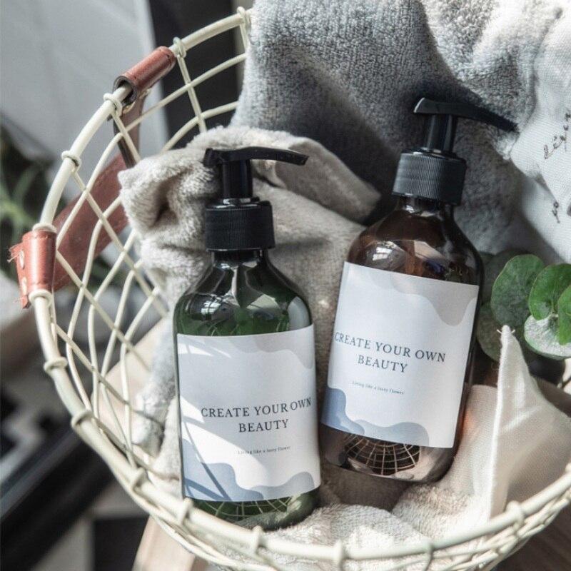 300/500 мл бутылка для жидкого шампуня диспенсер для мыла для ванной комнаты пустой пресс многоразового использования пластиковое косметичес...