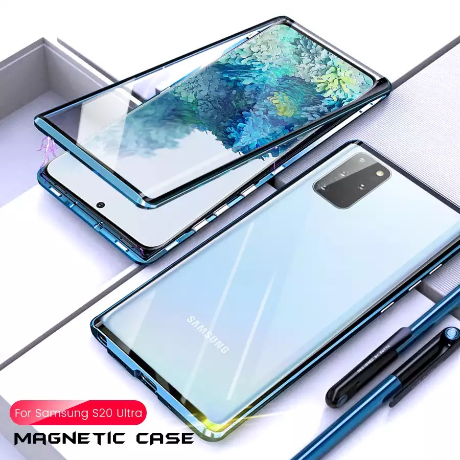 <font><b>360</b></font> DoubleFace Full Protection Magnetic <font><b>Case</b></font> For <font><b>Samsung</b></font> S10 S8 S9 Tempered Glass <font><b>Case</b></font> Cover For Galaxy S20 <font><b>Note</b></font> 10 PLUS Coque image