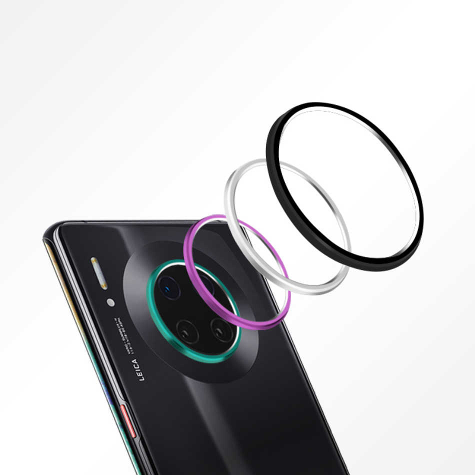Kamera Belakang Belakang Lensa Pelindung Tutup Pelindung Protection + Film Anti Gores untuk HUAWEI Mate 30 Mate30 Pro Logam kasus