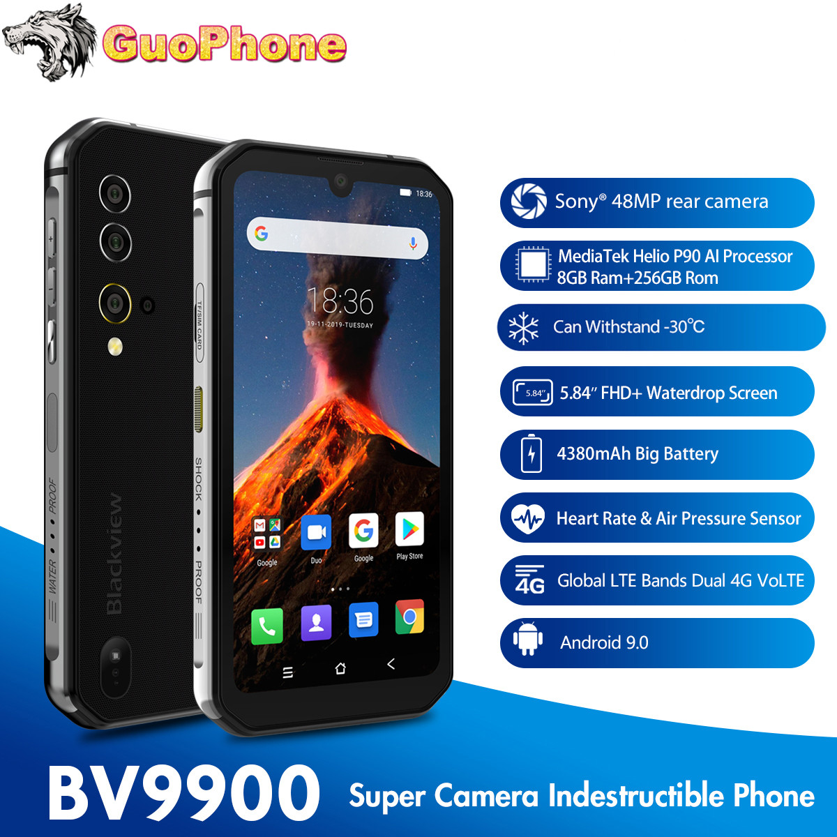 Blackview BV9900 Rugged SmartPhone 8GB RAM 256GB ROM 5.84