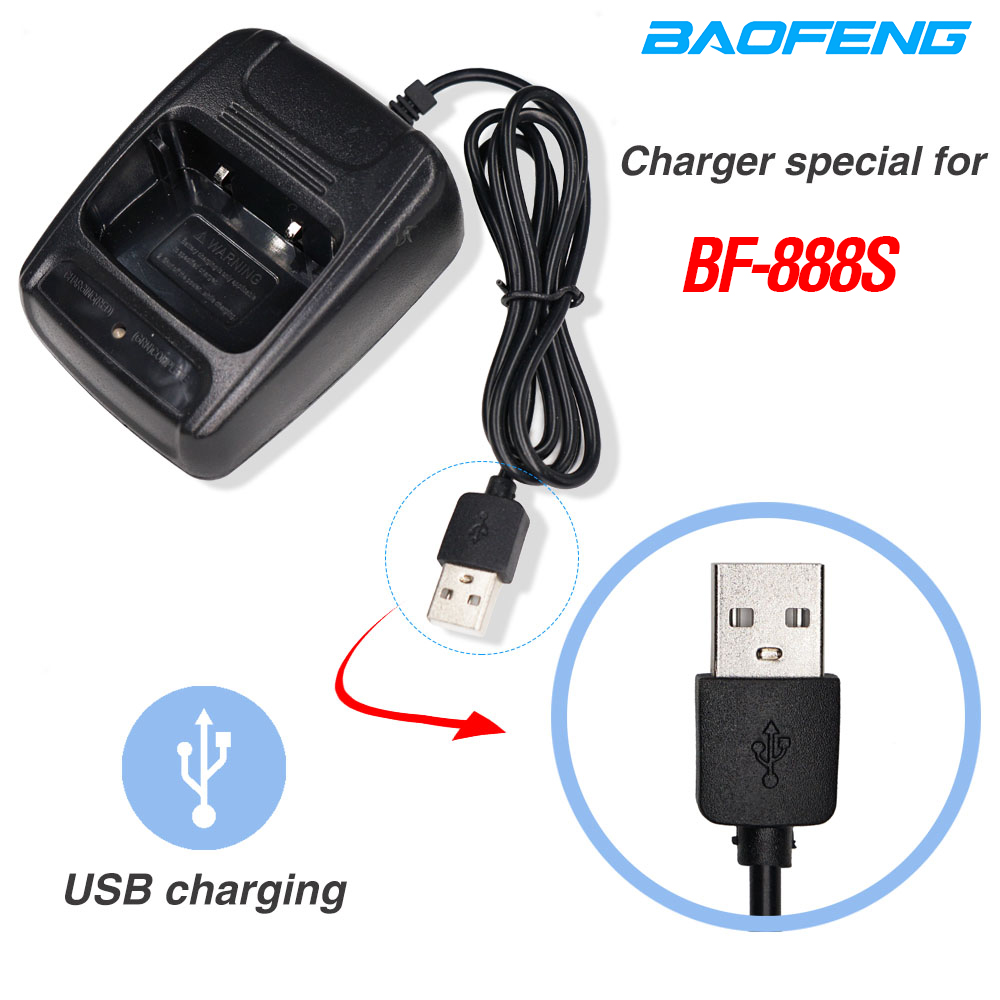 Original Baofeng 888S USB Charger Li-ion Battery Charger Input 5V 1A For BAOFENG BF-888S Bf888S Bf 888S BF-777S Two Way Radio