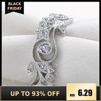 choucong Wieck Antique jewelry Flower Desgin 925 Sterling Silver Simulated stones Wedding Engagement Rings For Love Size 5 11